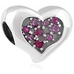Charm Corazón Circonitas