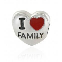 Charm Corazón I Love Family