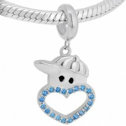 Charm Niño Corazón Azul