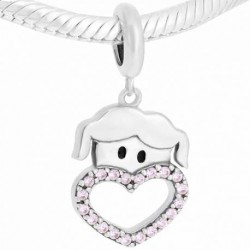 Charm Niña Corazón Rosa