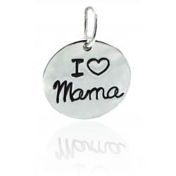 Colgante Plata I Love Mamá