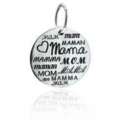 Colgante Plata Mamá