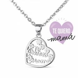 Colgante Plata Mamá Corazón