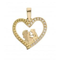 Colgante Oro 18 Kl Corazón...