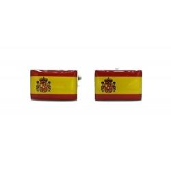 Gemelos España pasador Liso